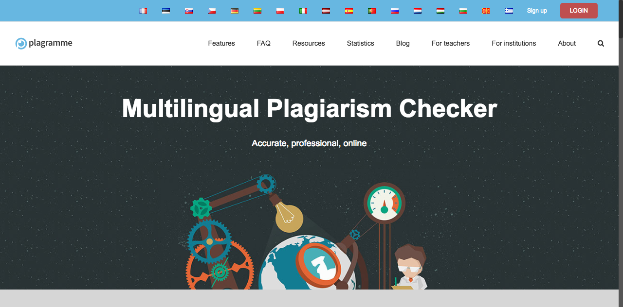 Free Plagiarism Checker. Multilingual plagiarism check
