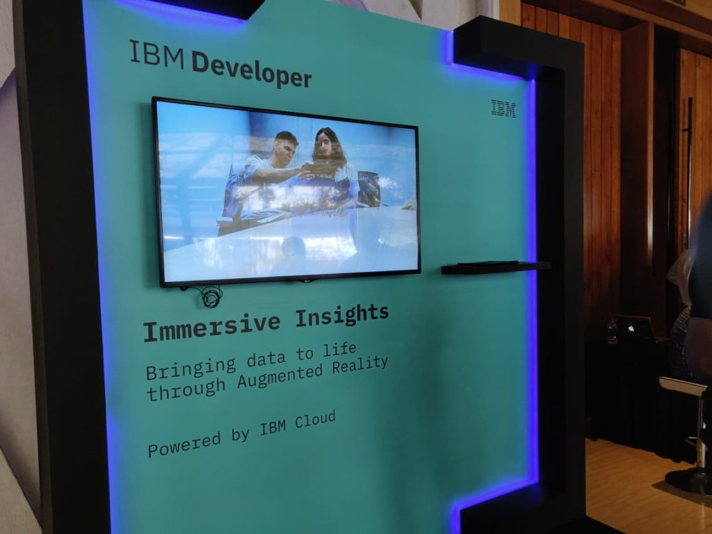 IBM Developer Day 2019 Immersive Insights booth
