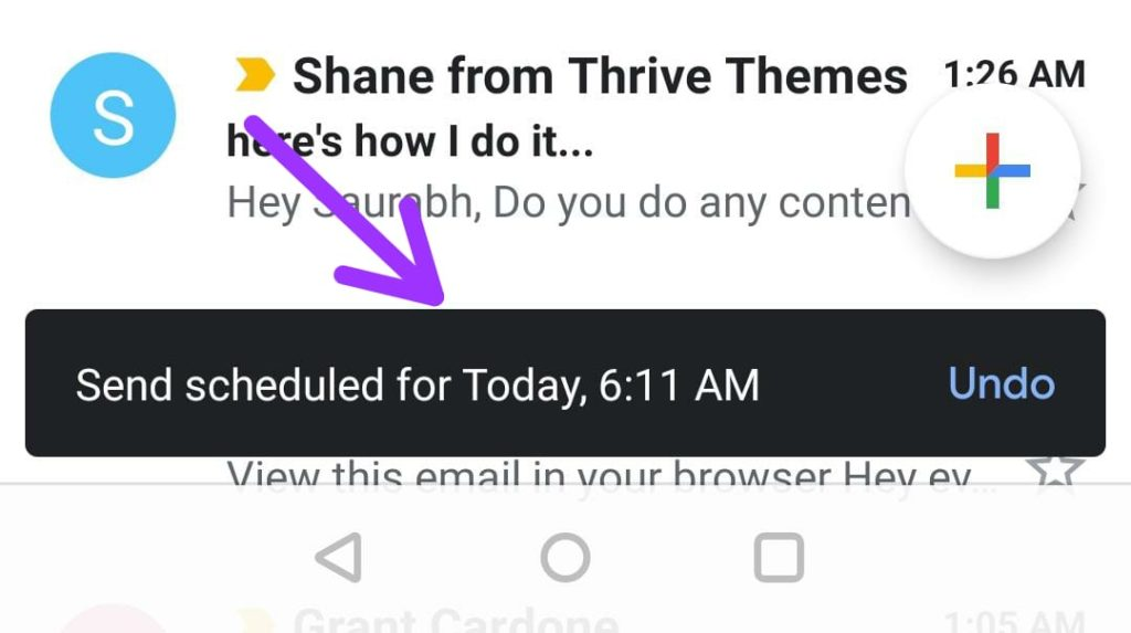 Gmail Email Scheduling sent