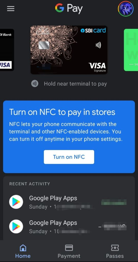 Google Pay -Add credit card options for NFC payments at POS India-3